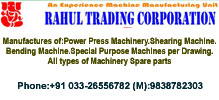 Rahul Trading co: Power Press Manufacturer